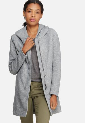 ONLY Sedona Light Melange Coat Jackets Grey