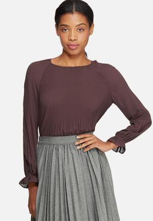 ONLY Cherry Pleat Top Blouses Purple