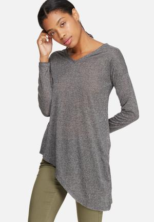 ONLY Hanna Asymmetrical Top T-Shirts, Vests & Camis Grey