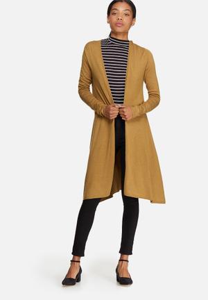 ONLY Malaga Long Cardigan Knitwear Mustard