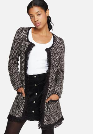 ONLY Elida Cardigan Knitwear Black & Grey
