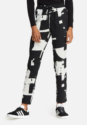 ONLY Max Graphic Trousers Black & White