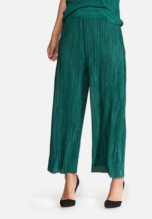 Dailyfriday Plisse Culottes Trousers Green