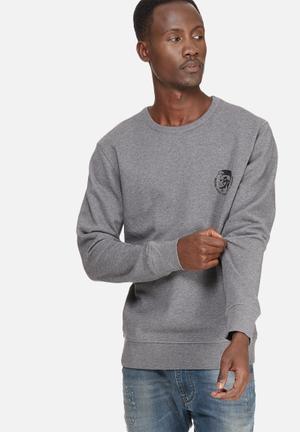 Diesel  Willy Sweat Shirt Hoodies & Sweatshirts Grey & Black