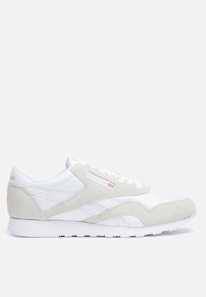 Reebok Classic Nylon Foundation Sneakers White / Light Grey