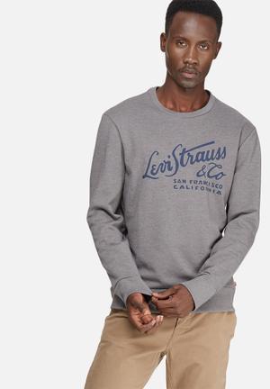 Levi's® Graphic Crew Sweatshirt Grey & Navy