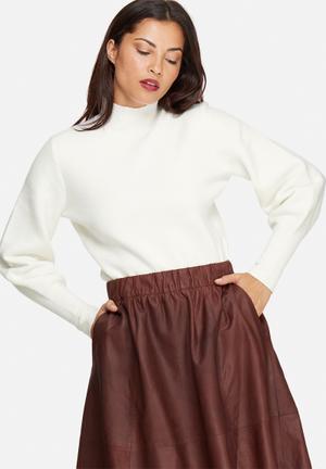 Selected Femme Tanja Sweater Knitwear White
