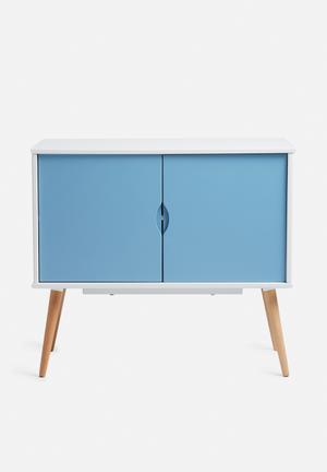 Eleven Past Blue Sideboard 2 Cupboard Wood