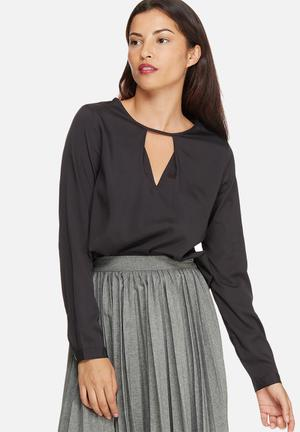 Vero Moda Vivi Pleat Top Blouses Black