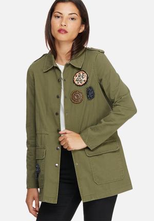 Vero Moda Maya Army Jacket Green