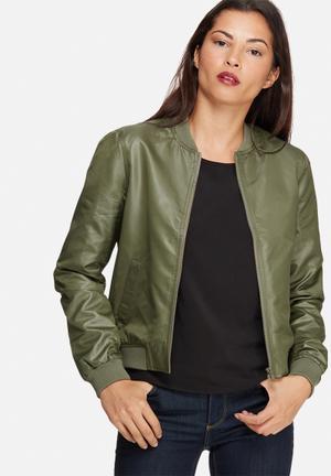 Noisy May New Shiny Jacket Green