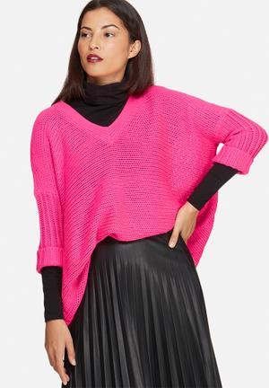 Noisy May Vera V-neck Knit Knitwear Pink