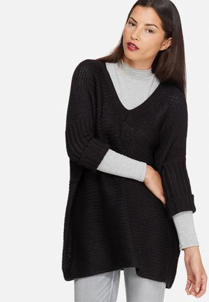 Noisy May Vera V-neck Knit Knitwear Black