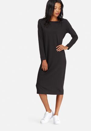 Jacqueline De Yong Newton Long Sweat Dress Casual Black