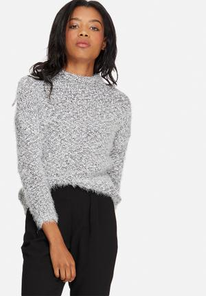 Jacqueline De Yong Daphine Pullover Knitwear Grey