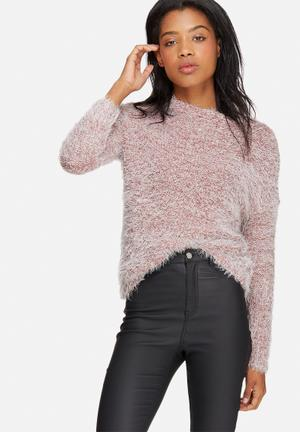 Jacqueline De Yong Daphine Pullover Knitwear Pink