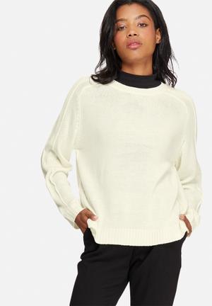 Jacqueline De Yong Marianne Pullover Knitwear White