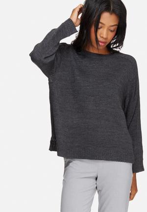 Jacqueline De Yong Marianne Pullover Knitwear Grey