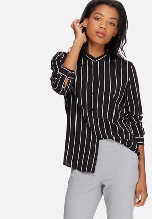 Jacqueline De Yong Sona Shirt Black & White