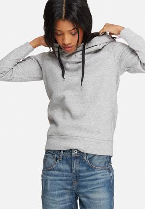 Jacqueline De Yong Tori Hooded Sweat Hoodies & Jackets Grey