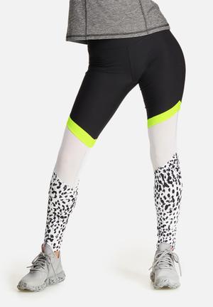 Leopard neon mesh legging