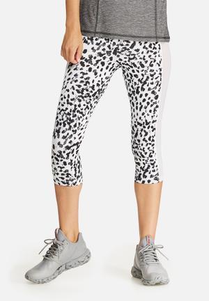 Leopard mesh insert legging