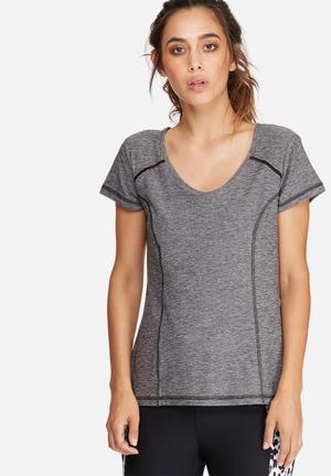 Southbeach  Active Tee T-Shirts Grey & Black