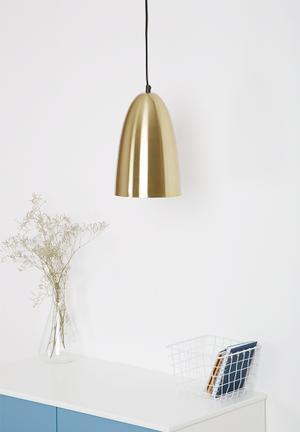 Sixth Floor Hanging Pendant Lighting Brass & Cord