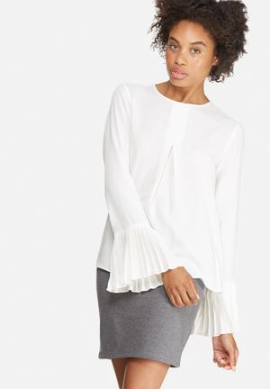 Dailyfriday Pleat Front Blouse White