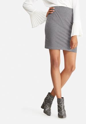 Dailyfriday Pull On Mini Skirt Grey Melange