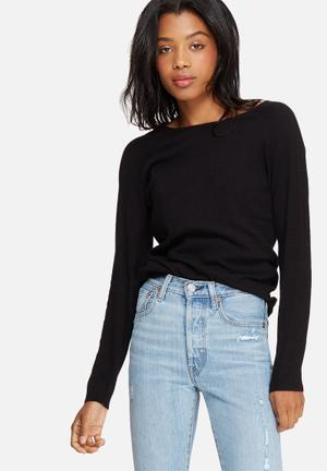 Pieces Lina Knit Knitwear Black