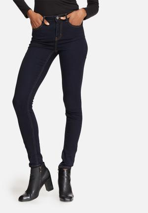 Pieces Five Betty Jeggings Jeans Dark Blue
