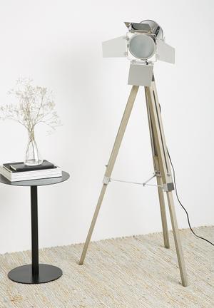 Sixth Floor Ryan Tripod Floor Lamp Lighting Wood & Metal