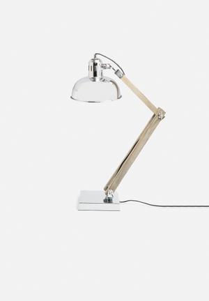 Sixth Floor Max Table Lamp Lighting Wood & Metal