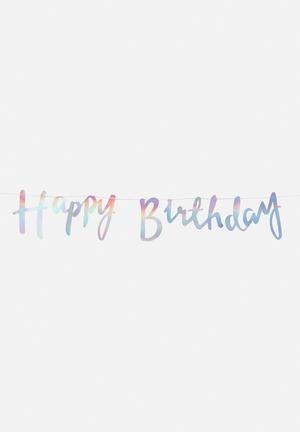 Ginger Ray Happy Birthday Backdrop Partyware Paper