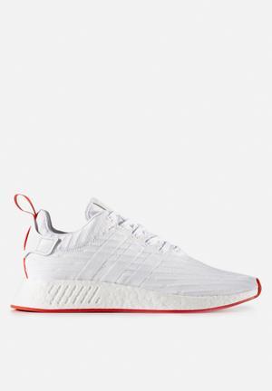 Adidas Originals NMD_R2 Primeknit Sneakers Ftw White / Collegiate Red