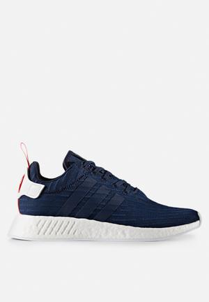 Adidas Originals NMD_R2 Primeknit Sneakers Collegiate Navy / Ftw White