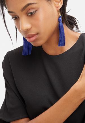 Pichulik Tassel Earrings Jewellery Royal Blue