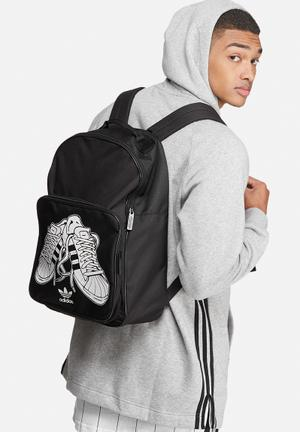 Adidas Originals Classic Sport Backpack Bags & Wallets Black & White