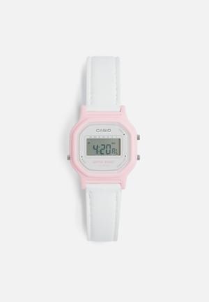 Casio Digital Wrist Watch White & Pink