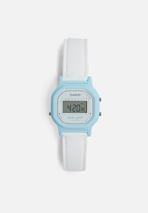 Casio Digital Wrist Watch Blue & White