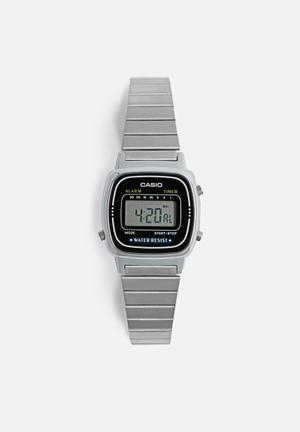 Casio Digital Wrist Watch  Silver
