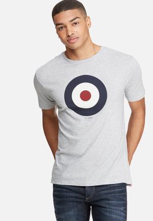 Ben Sherman Target Tee T-Shirts & Vests Grey, Navy, White & Red
