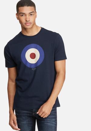Ben Sherman Target Tee T-Shirts & Vests Navy, White & Red