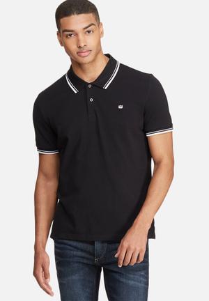 Ben Sherman Romford Polo T-Shirts & Vests Black & White