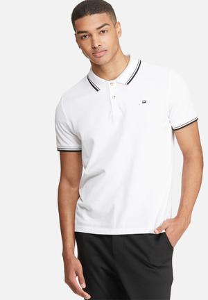Ben Sherman Romford Polo T-Shirts & Vests White & Black