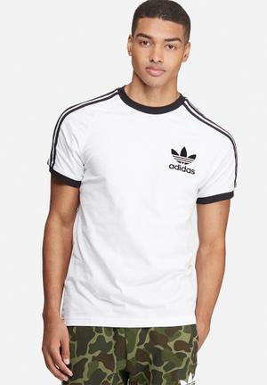 Adidas Originals CLFN Tee T-Shirts White & Black