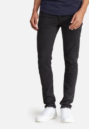 Sergeant Pepper Feather Slim Jeans Black