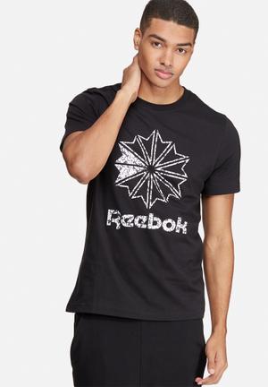 Reebok Classic Starcrest Tee T-Shirts Black, White & Grey