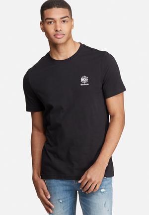 Reebok Classic Starcrest Tee T-Shirts Black & White
